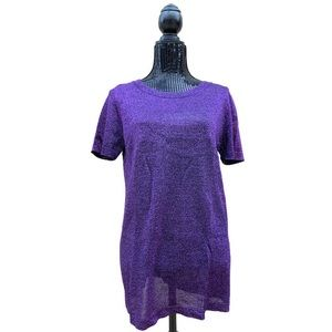 Missoni Purple Metallic Threaded Top